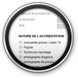 image Formulaires de newsletter et d'accréditations